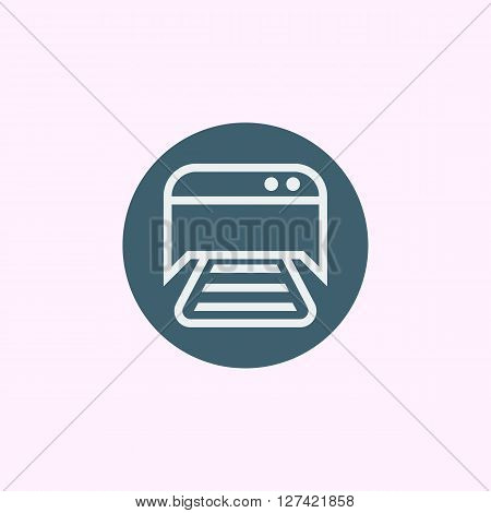 Printer Icon In Vector Format. Premium Quality Printer Symbol. Web Graphic Printer Sign On Blue Circ
