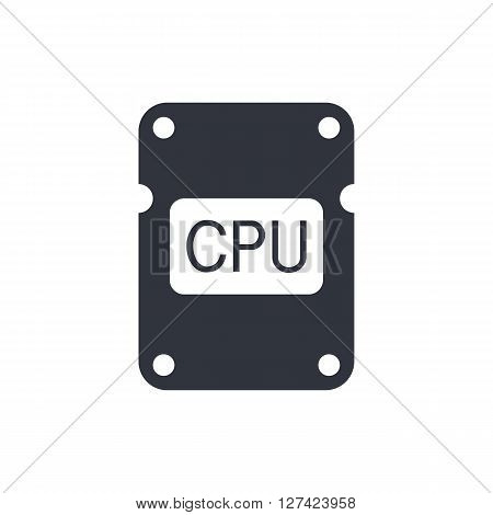Cpu Icon In Vector Format. Premium Quality Cpu Symbol. Web Graphic Cpu Sign On White Background.