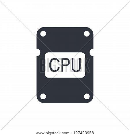 Cpu Icon In Vector Format. Premium Quality Cpu Symbol. Web Graphic Cpu Sign On White Background.