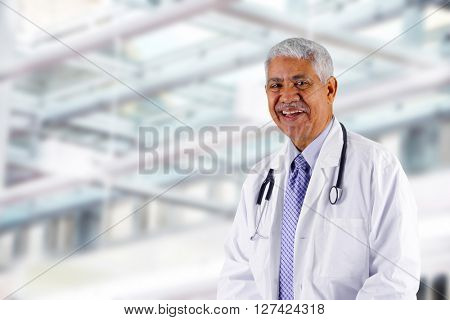Doctor who is working his shift in a hospital