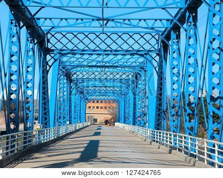 Walking bridge at Grand Rapids, Michigan