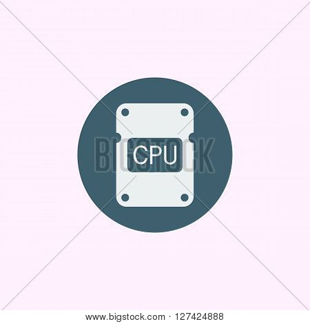 Cpu Icon In Vector Format. Premium Quality Cpu Symbol. Web Graphic Cpu Sign On Blue Circle Backgroun