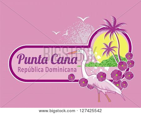 conceptual illustrations Punta Cana in the Dominican Republic