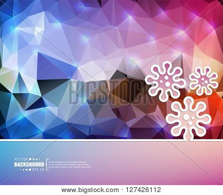 Creative vector virus. Art illustration template background. For presentation, layout, brochure, logo, page, print, banner, poster, cover, booklet, business infographic, wallpaper, sign, flyer.
