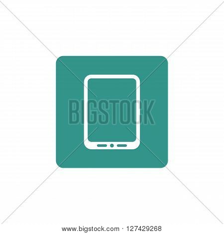 Tablet Icon In Vector Format. Premium Quality Tablet Symbol. Web Graphic Tablet Sign On Green Backgr