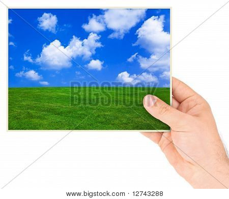 Nature photo in hand