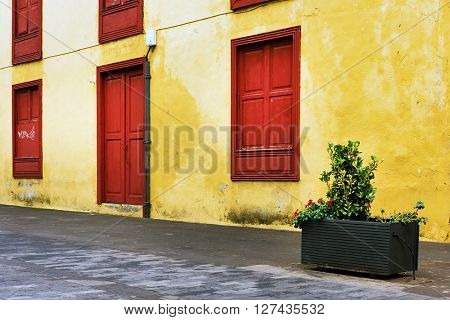 Architectural detail in the old Town of San Cristobal de La Laguna, Tenerife, Canary Islands