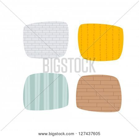 Set of grunge cement wall texture vector.