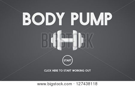 Bodybuilding Health Get Fit Fitness Exercise Body Pump Concept