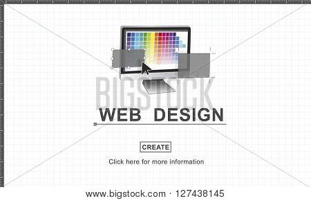 Digital Marketing Media Web Design Ideas Concept