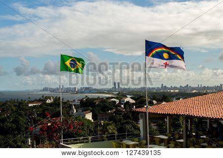 Olinda, located in Pernambuco state, Brazil