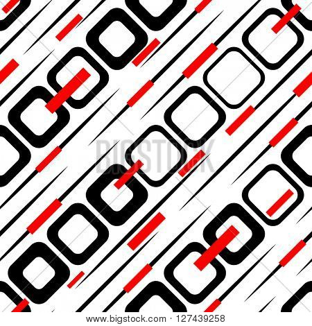 Seamless Square and Stripe Pattern. Abstract Background. Vector Regular Texture
