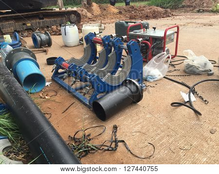 Pipe Welding Machine for Polyethylene pipe .fusion