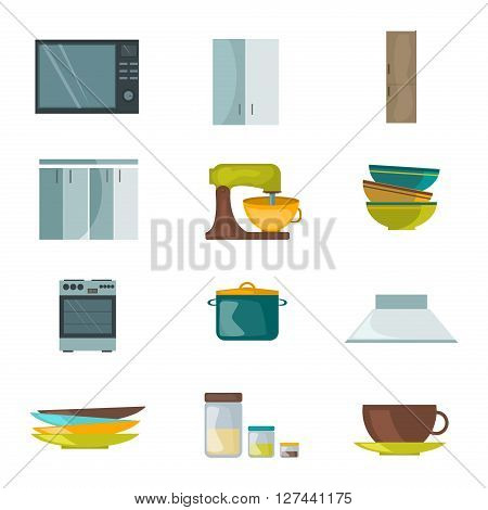 Kitchen appliances home equipment cooking household domestic machine kitchenware vector. Kitchenware cooking design, kitchen appliances home interior. Modern kitchen appliances kitchenware.