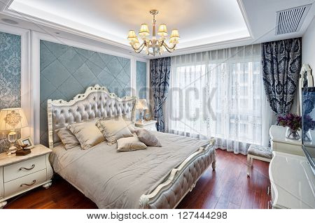 decoration and furniture of modern bedroom