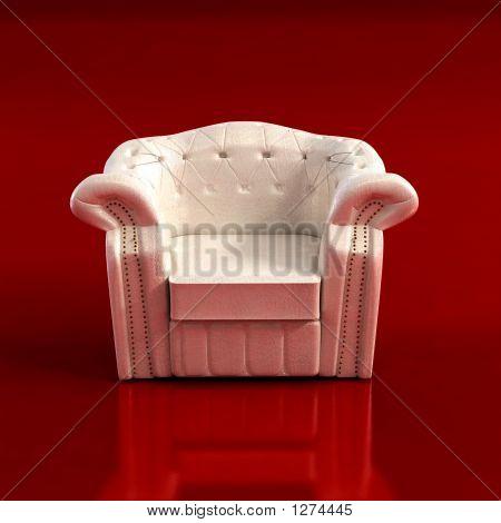 Classic Armchair 3D Rendering