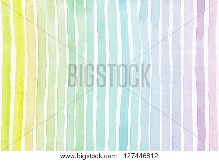 Horizontal seamless background with handdrawn ink with hand drawn stripe gradient texture imperfect grainy bright on white watercolor paper in pastel colors illustration for your presentation or design