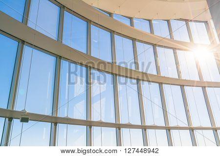 Big window with sunshine