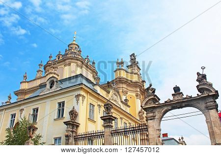 St. George's Cathedral a baroque-rococo cathedral in the city of Lviv, Ukraine