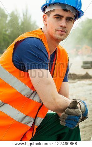 Handsome Manual Worker