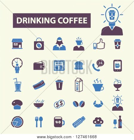 drinking coffee icons