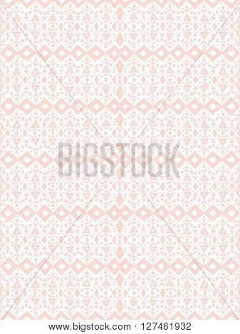 Soft pink Aztec tribal mexican seamless pattern. Hipster boho chic background. Trendy layout. Art luxury print, backdrop, paper