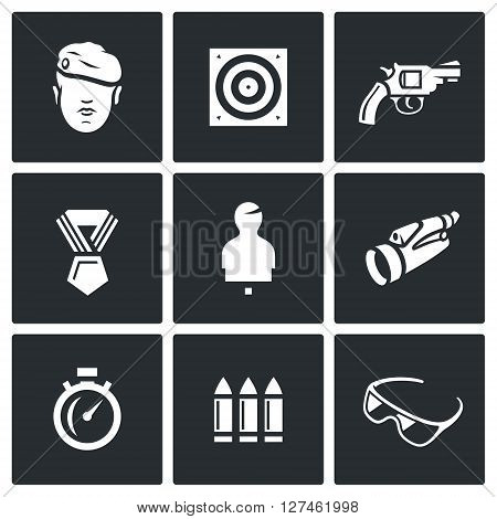 Warrior, Stationary Target, Gun, Order, Moving Target, Binocular, Stopwatch, Ammunition, Glasses.
