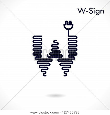 Creative W- letter icon abstract logo design vector template.Creative W- alphabet vector design.Business and education creative logotype symbol.Vector illustration