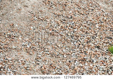 heap of rubble for background construction material