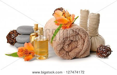 Spa still life isolated on white