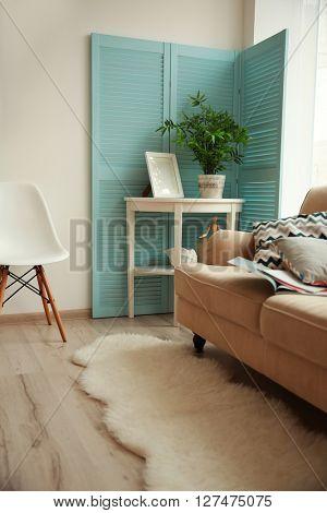 Modern room design interior