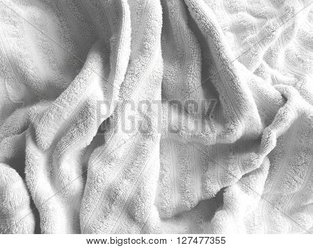 Towel texture as a backdrop