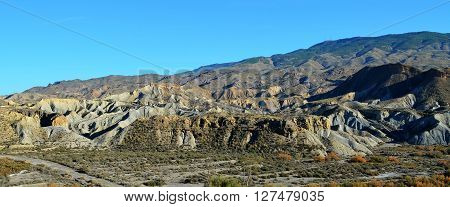 Tabernas desert in the province of Almeria (Andalusia, Spain)