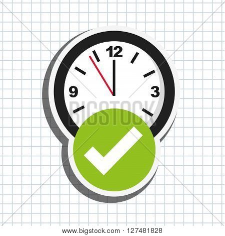 time Icon over white background, Vector illustration
