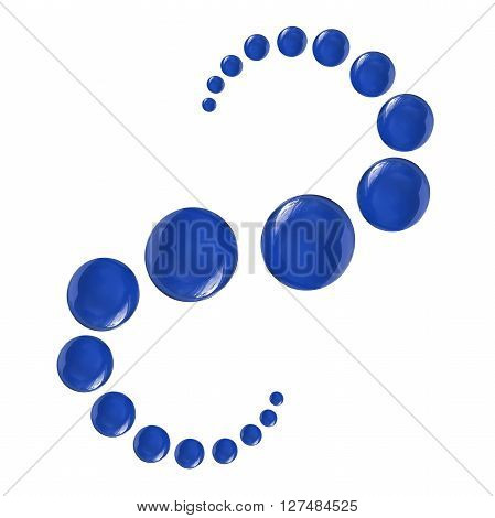 Group of blue sapphire gems on white background