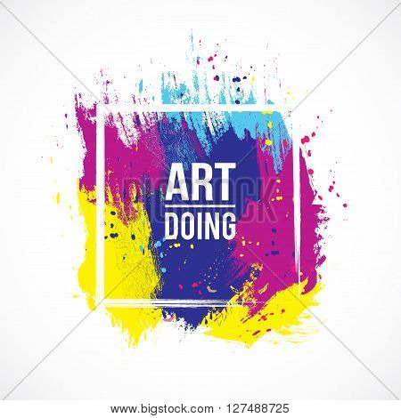 Vector watercolor background. Colorful abstract texture. Vector art elements. Vintage background. Vector watercolor splash