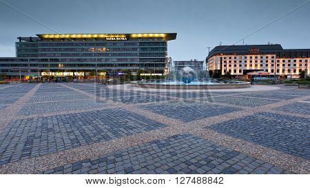 BRATISLAVA, SLOVAKIA - APRIL 24, 2016: Modern architecture in te center of Bratislava, Slovakia on April 24, 2016.