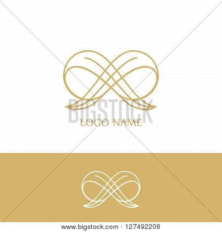 Logo luxery.  Business sign, identity for Restaurant, Royalty, Boutique, Hotel, Heraldic, Fashion , Real estate, Resort, King, tattoo, Auctions, Vector logo
