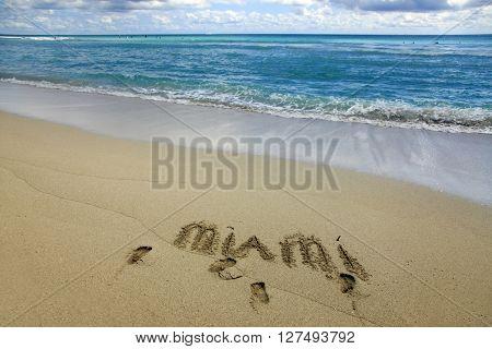 Ocean in Miami Beach Florida. USA .