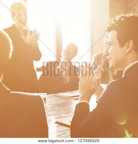 Corporate Business Team Achievement Success Concept