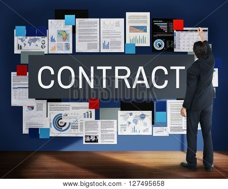 Contract Financial Partnership Business Agreement Concept