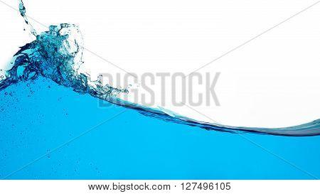 Water Splash Isolated On White Background