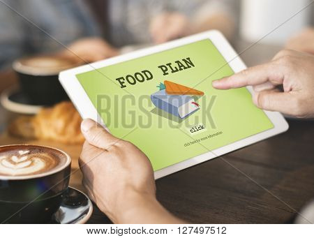 Food Plan Meal Cook Book Concept