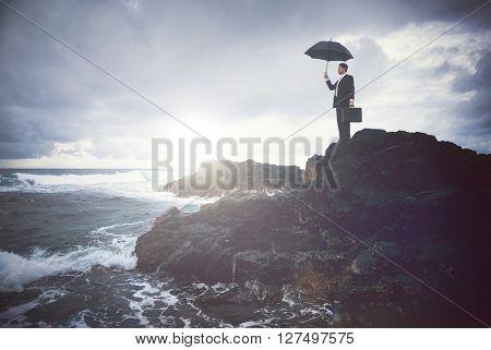 Business Facing Storm Concept