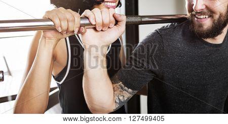 Assistance Bodybuilding Gym Workout Training Concept