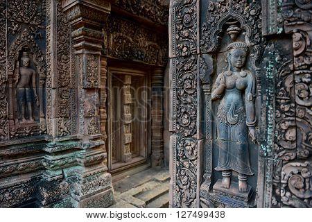 Asia Cambodia Angkor Banteay Srei