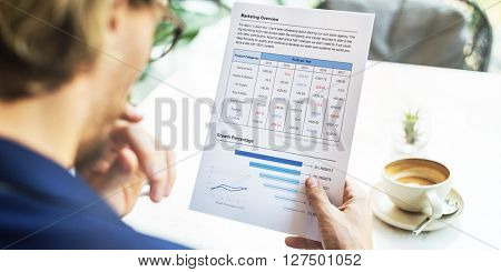 Businessman Working Thinking Business Plan Concept