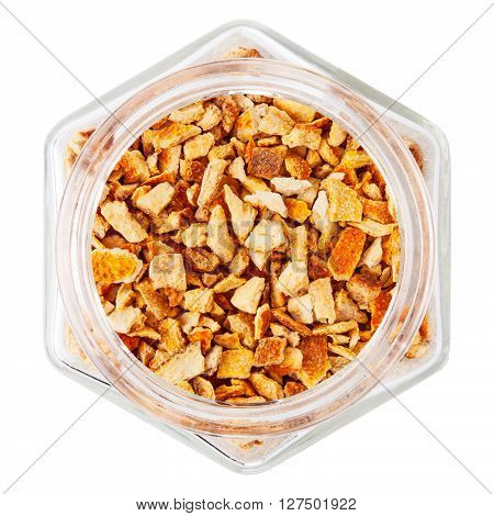 Bitter orange peel isolated on white background