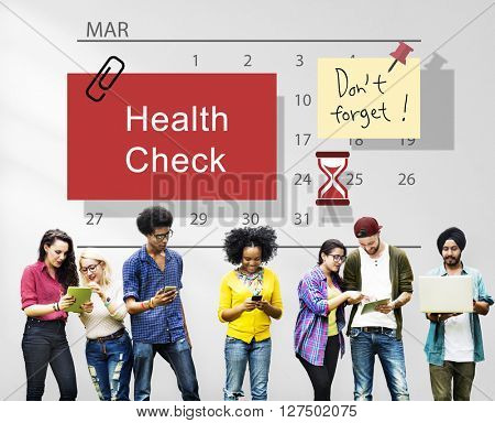 Health Check Organize Schedule Planner Concept