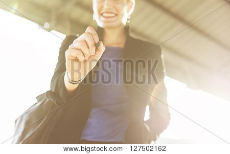 Businesswoman Manager Smiling Confident Concept